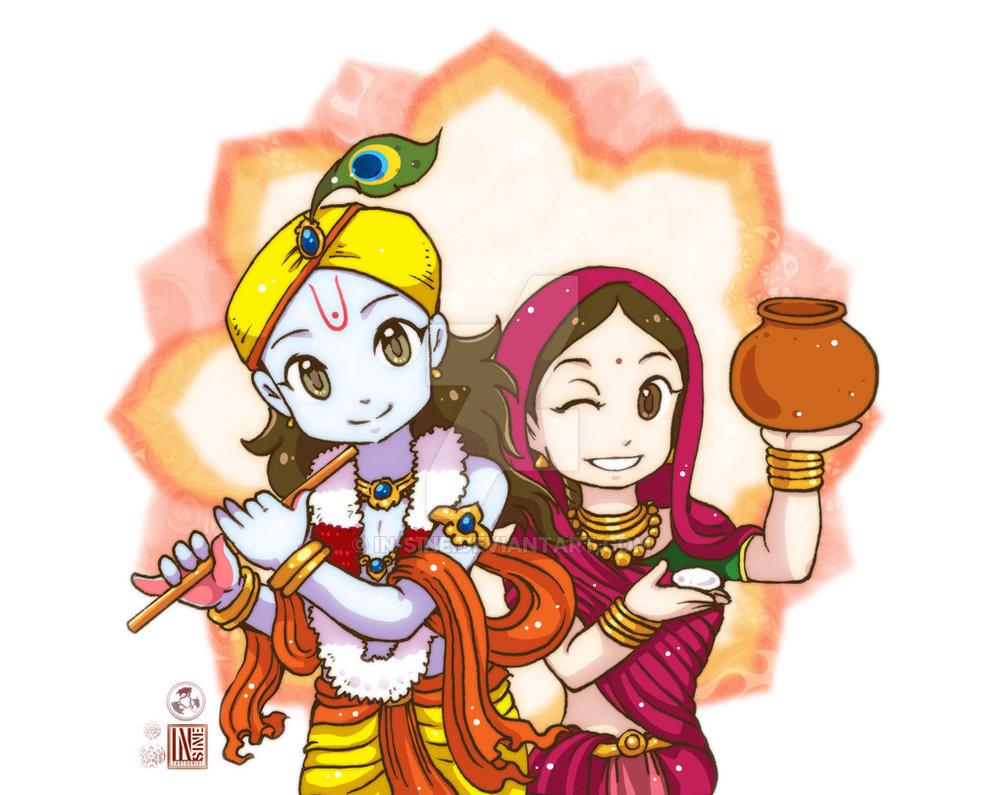 Gods clipart shri krishna Radha Krishna and Shri Radha