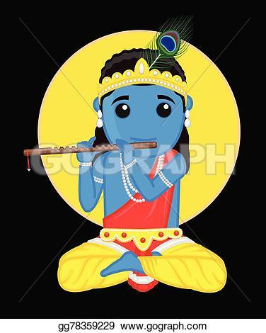 Gods clipart shri krishna Indian vector Clipart Clipart