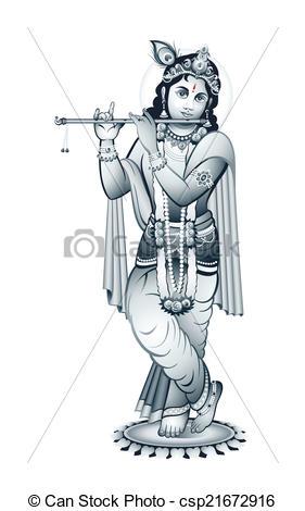 Gods clipart shri krishna Of Krishna Art Indian csp21672916
