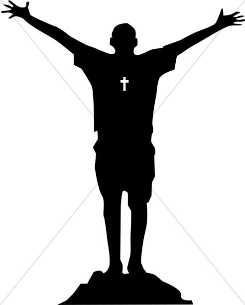 Gods clipart silhouette Image Rock Praise Christian Sharefaith