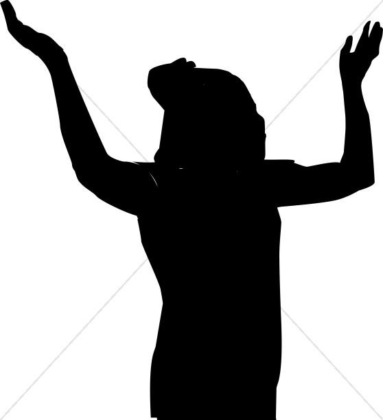 Gods clipart silhouette Clipart Female Glorying Man Praise