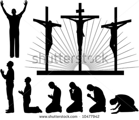 Gods clipart silhouette Clipart Silhouette praising Images collection