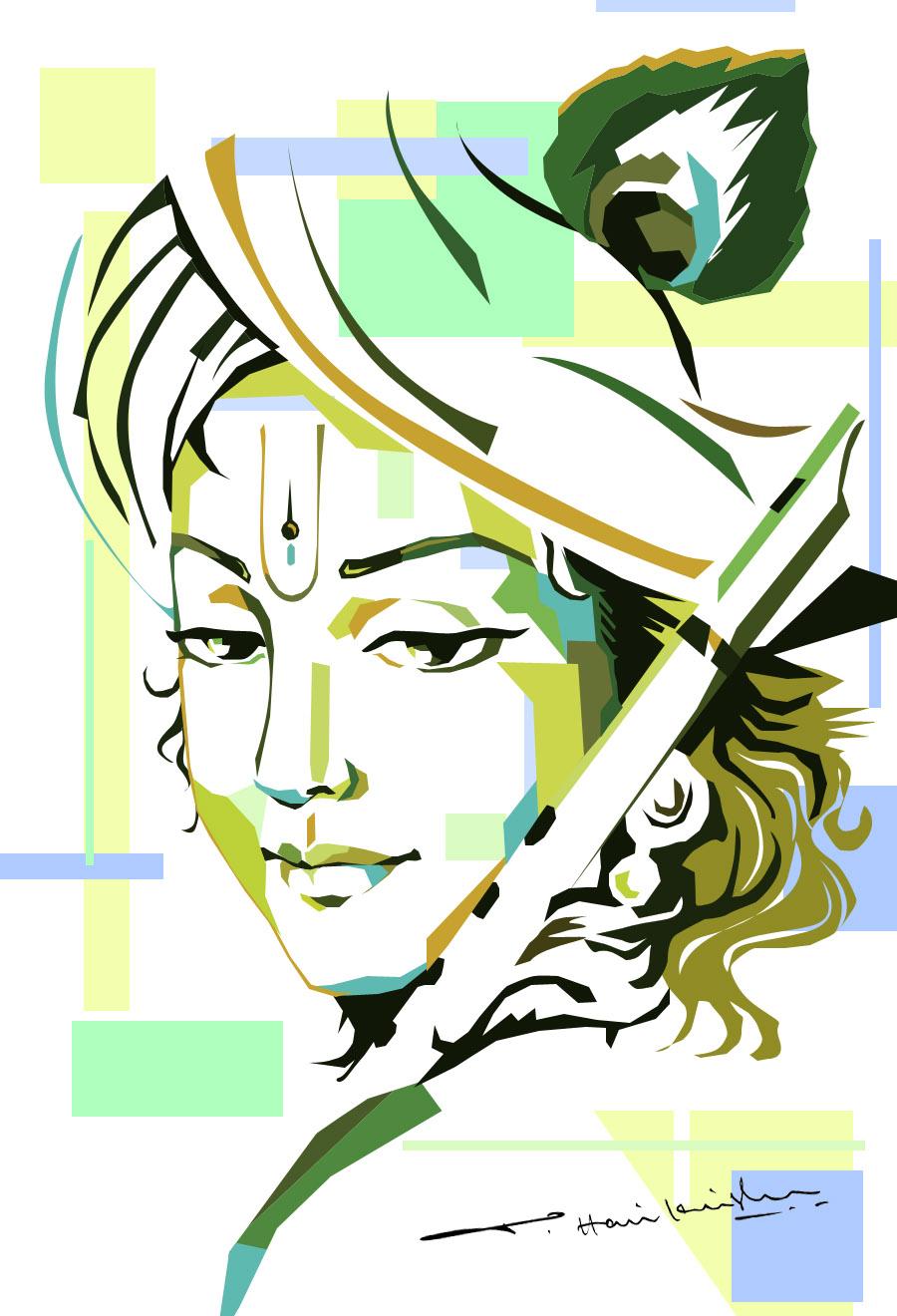 Gods clipart sri krishna Pencil Sketch Pinterest Krishna Lord