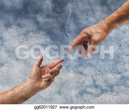 Gods clipart two hand Gg62011927 god reaching Drawing Clipart