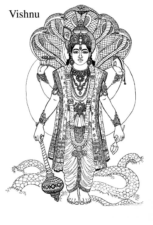 Gods clipart vishnu Goddesses by Preview Flashcards Gods