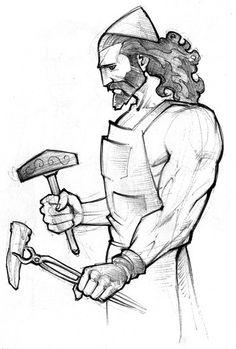 Zeus clipart roman god Hephaestus Vulcan / by oceguera