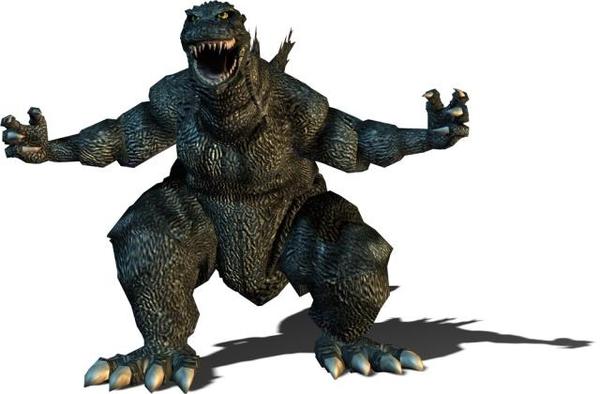 Godzilla clipart Art on Free Clip Clipart