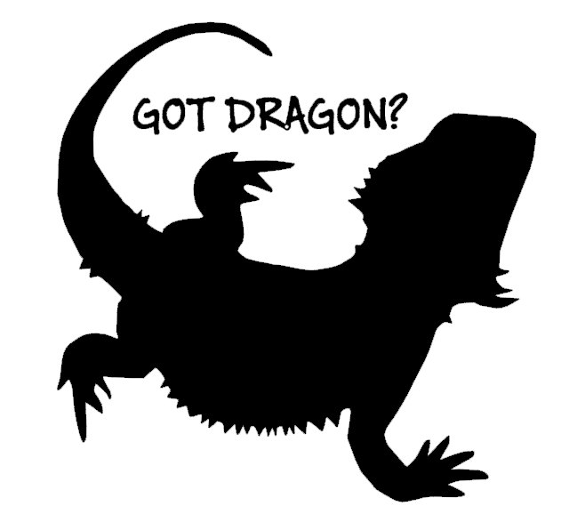 Godzilla clipart bearded dragon 99 Decal/Sticker Dragon? Bearded $4