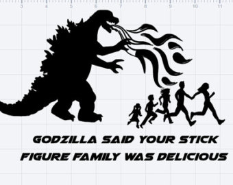 Godzilla clipart black and white Etsy And Cut Figure DXF