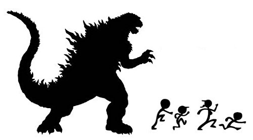Godzilla clipart black and white Sticker Home graphic com: &