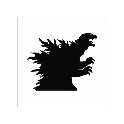 Godzilla clipart black and white Godzilla Decals Vinyl