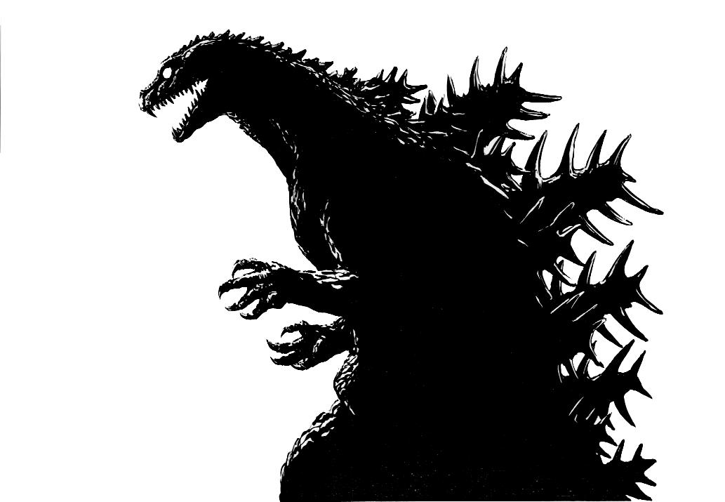 Godzilla clipart black and white FANDOM Wikia Concept Image 1
