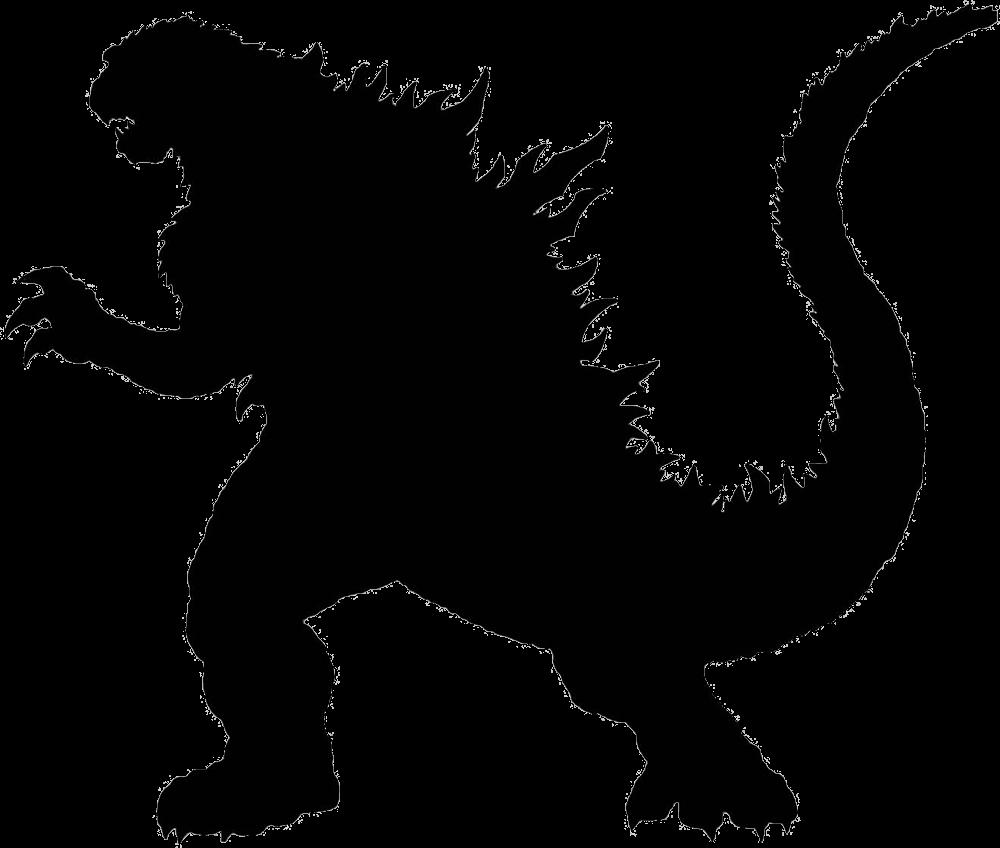 Godzilla clipart black and white Rex Godzilla Godzilla DinoPit Rex