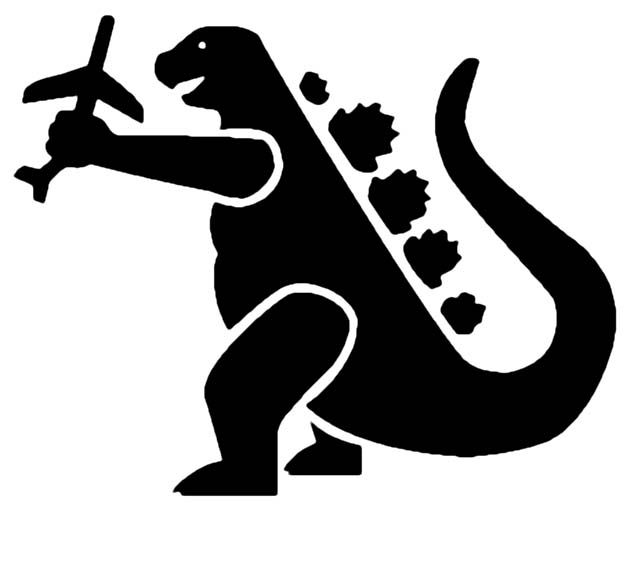 Godzilla clipart black and white Godzilla best and party Find