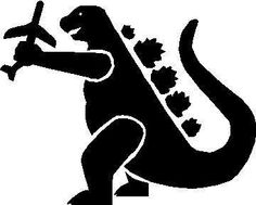 Godzilla clipart classic  for tshirts Vector use