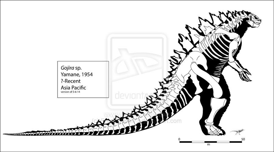 Godzilla clipart godzilla 2014 Skeleton on Goji1327 Godzilla by
