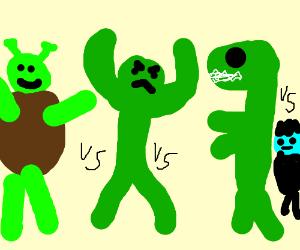 Godzilla clipart hulk Hulk Shrek vs Frankenstein Godzilla