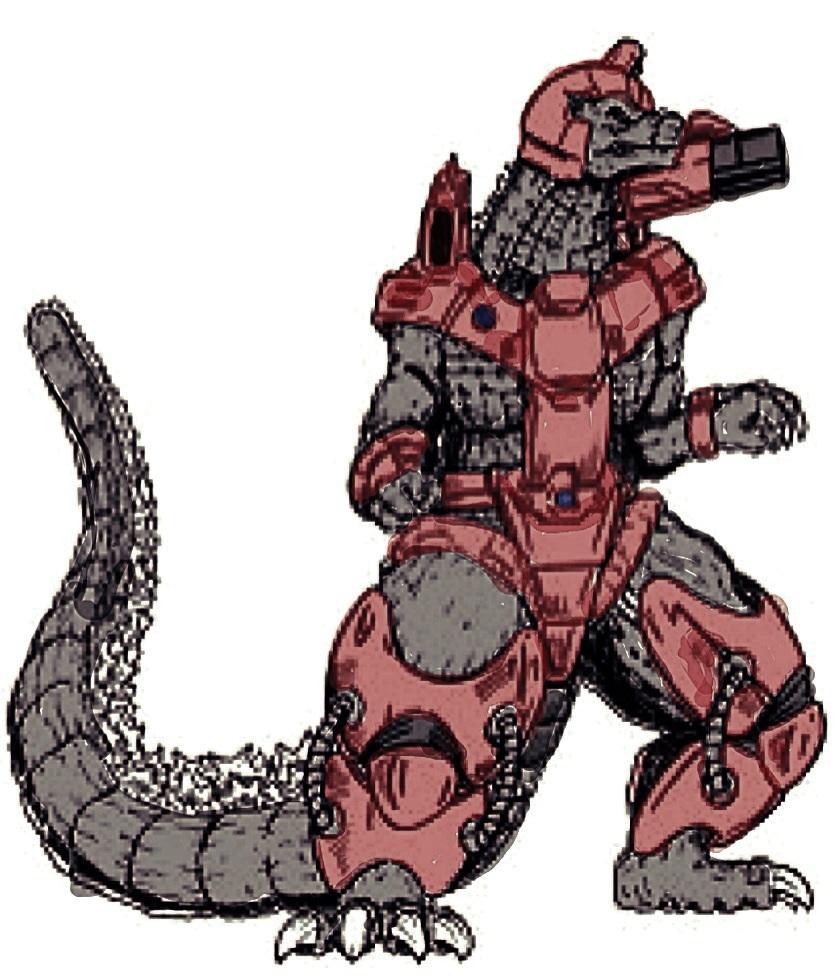 Godzilla clipart leaked Possible colorized version Godzilla7007