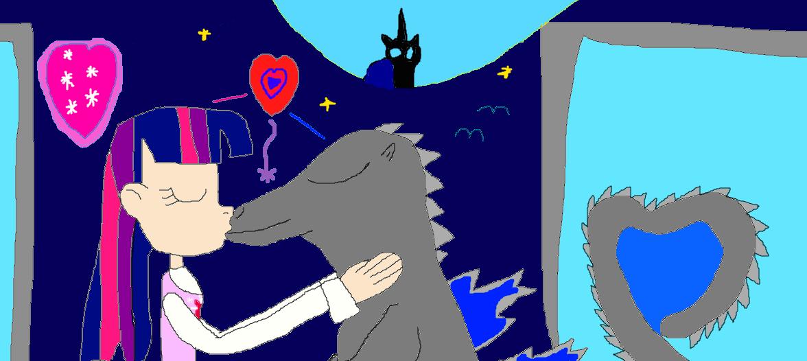 Godzilla clipart love Godzilla: True Love and Sparkle
