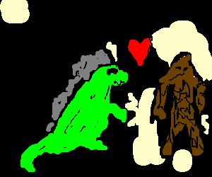 Godzilla clipart love King Bigfoot dinner love out