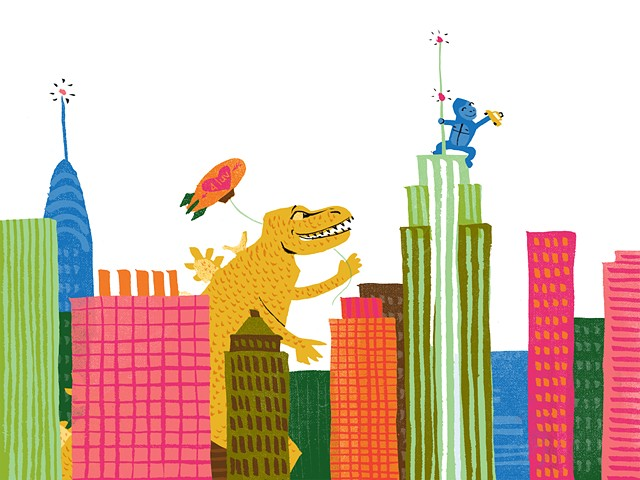 Godzilla clipart new york city Illustration Monsters Violet the Lemay