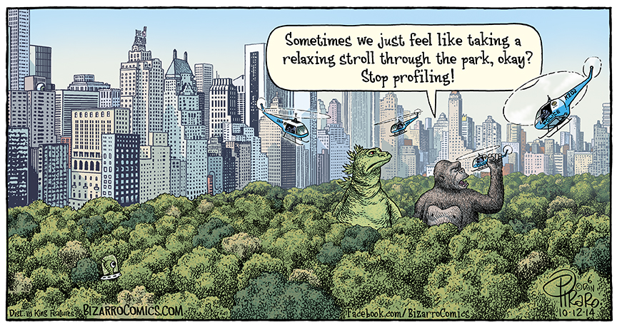 Godzilla clipart new york city Strolling city new Bizarro! york