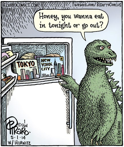 Godzilla clipart new york city Bizarro! new  city 01