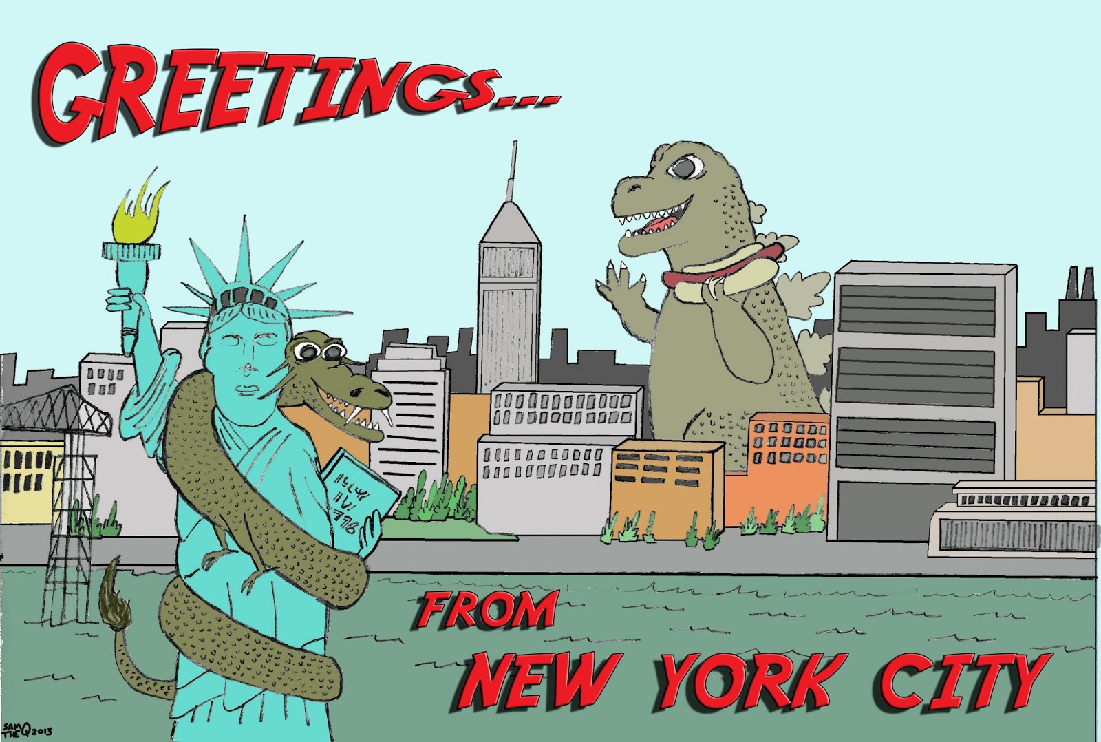 Godzilla clipart new york city Kaijubilee I romp '68