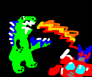Godzilla clipart optimus prime Vs Optimus vs Prime Godzilla