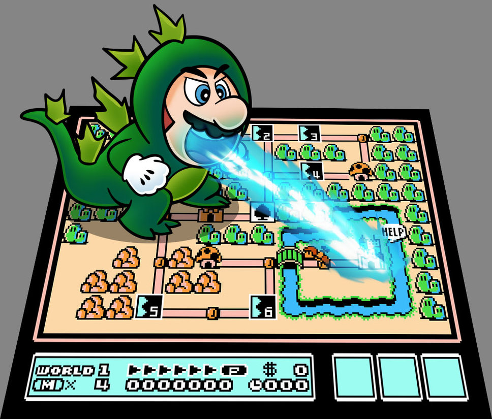Godzilla clipart suit Mario by on Suit DeviantArt