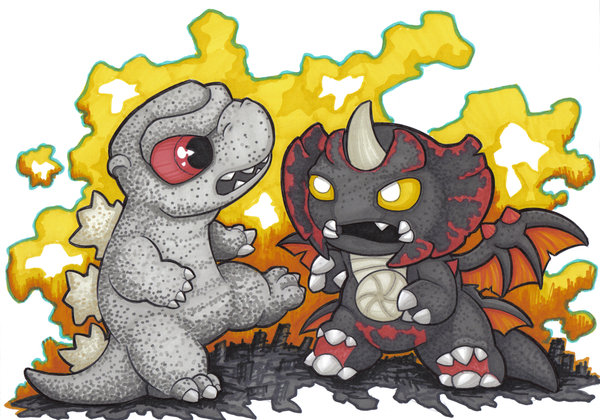 Godzilla clipart suit Mini godzilla destoroyah mini by