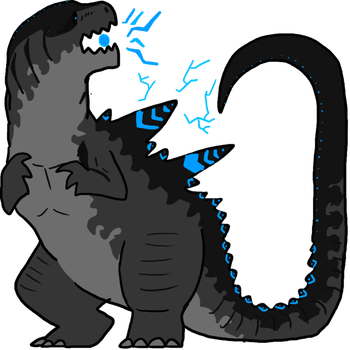 Godzilla clipart transparent Wolffuchs SpottedAlienMonster by by favourites