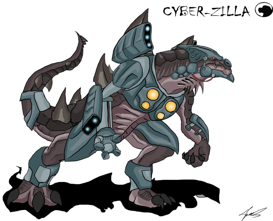 Godzilla clipart zilla Animated:Cyber by by Zilla Blabyloo229