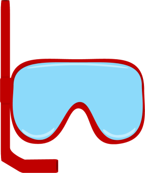 Flippers clipart goggles #2