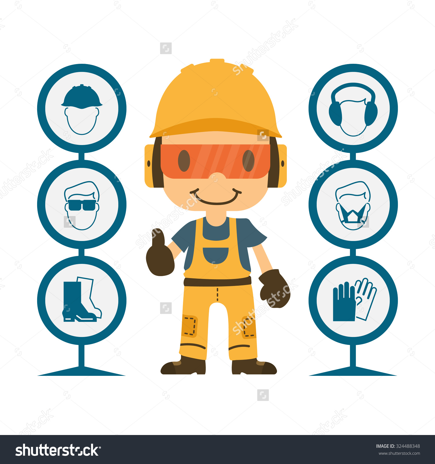 Barrier clipart industrial safety To a lightbox Ppe Cliparts