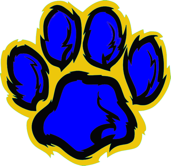 Tiger Print clipart blue Image Gold clip this