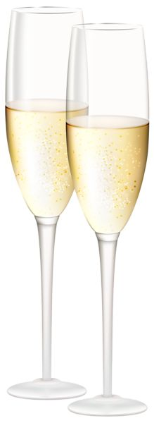 Champagne clipart drinking glass Cheers Champs Cocktails Glasses Gold