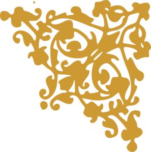 Damask clipart corner Gold Art Clip at Corner
