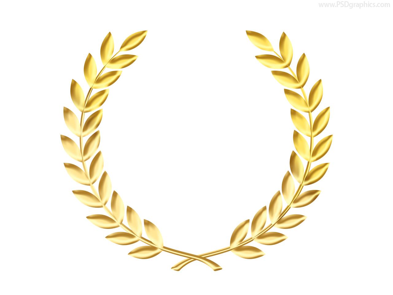 Wreath clipart medal PSDGraphics medal Clip wreath Gold