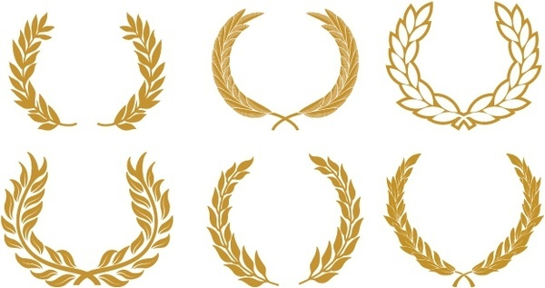 Wreath clipart crest For Wreath vector) download set