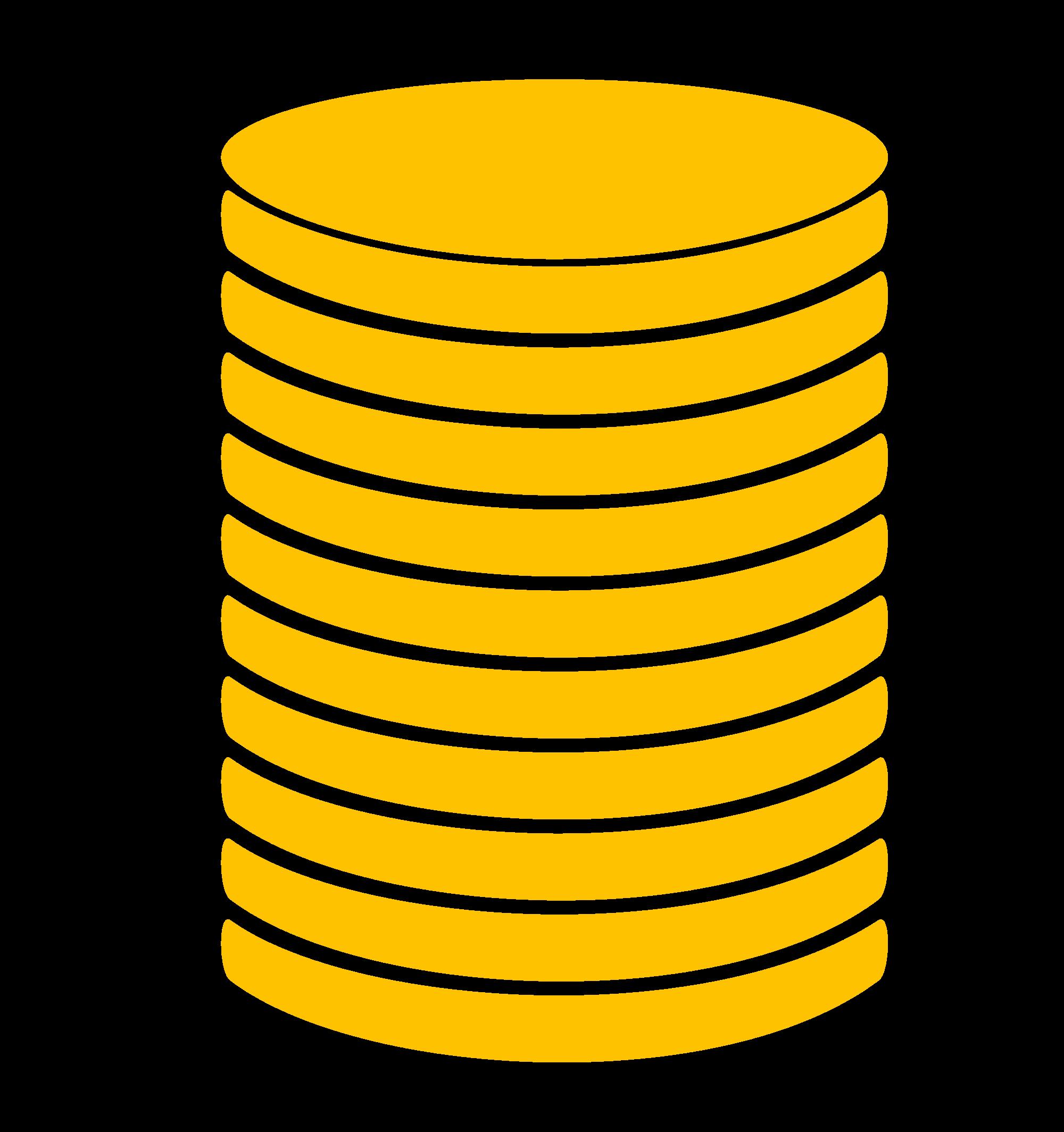 Coin clipart stack coin Coin  Top Stack Design