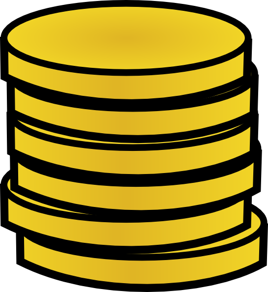 Coin clipart stack coin Coins at image art A