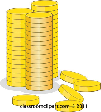 Coin clipart stack coin Coin stack clipart Money stack