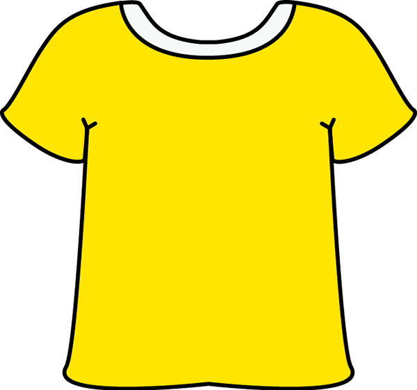 Colorful clipart t shirt #15