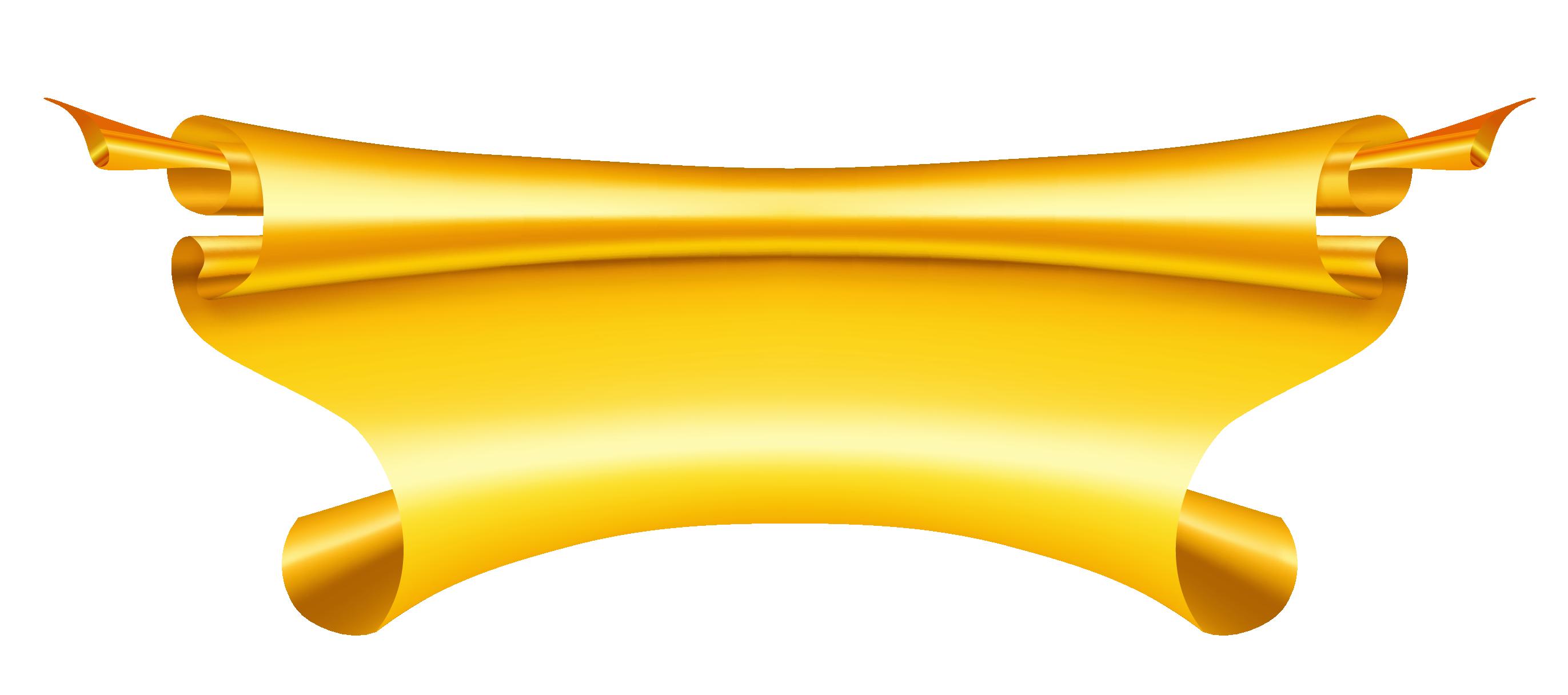 Golden clipart Gold Art  Banner Golden