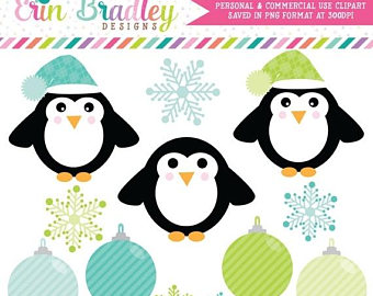 Penguin clipart peguin Holiday Etsy OFF Clipart Clip