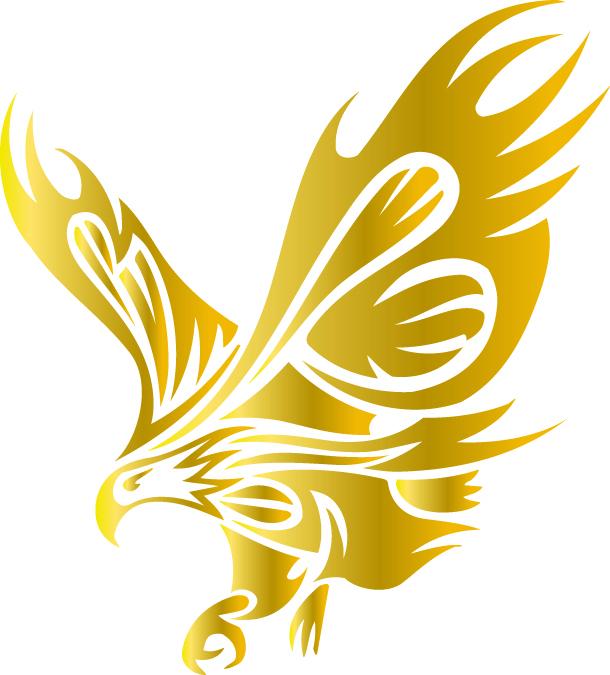 Golden Eagle clipart Blue Gelbe > Logo Eagle