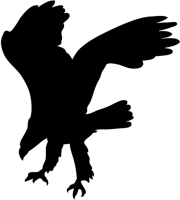 Bird Of Prey clipart silhouette Hunting Eagle branch clipart silhouette
