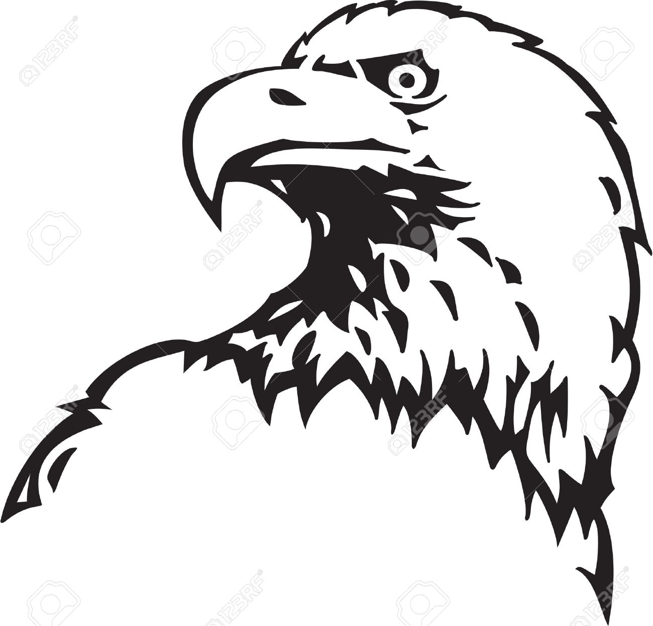 Bald Eagle clipart black and white 73 Free 83 Clipart Clipart