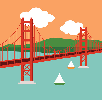 Golden Gate clipart ⋆ The ClipartView Bridge Clipart